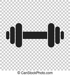 concept., arrière-plan., musculation, barre disques, sport, gymnase, isolé, style., fitness, plat, illustration, transparent, haltère
