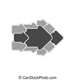 Concept arrow icon. Symbol in trendy flat style isolated on white background.