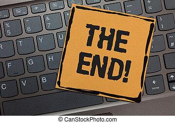 concept, art, clavier, texte, ordinateur portable, fin, papier, quelque chose, clavier, fin, écriture, noir, call., conclusion, vie, motivation, signification, ordinateur cahier, netbook, temps, écriture, key.