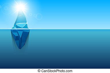 concept, art, danger, résumé, global, infographic, conception, antarctique, élément, template., métaphore, créatif, sous, caché, polaire, illustration affaires, iceberg., eau, chauffage, graphique, océan