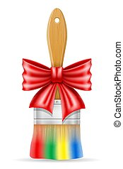 concept, art, illustration, créatif, peinture, vecteur, brosse, arc