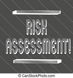 concept, assessment., texte, projeté, couché, épais, 45, seamless, potentiel, noir, blanc, risques, risque, raies, signification, impliqué, lignes, mince, évaluer, activité, écriture, degrees.