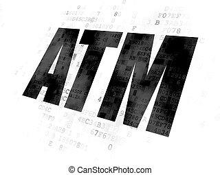 concept: ATM on Digital background