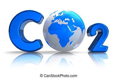 concept, atmosphérique, pollution