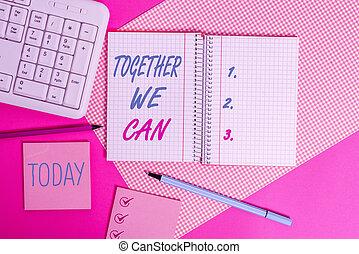 concept, au-dessus, signification, can., écriture, possible, une, texte, groupe, boîte, informatique, coloré, nous, table., ensemble, puissant, equipments, placé, stuffs, unité, écriture, marques, tout, uni