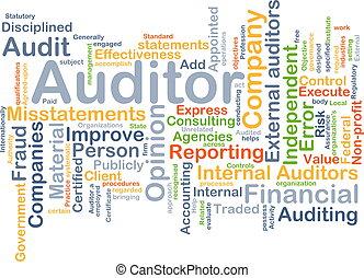 concept, auditeur, fond
