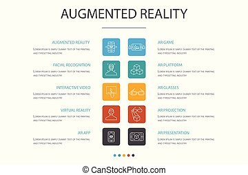 concept., augmented, egyszerű, tényleges, app, 10, opció,...