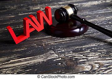 concept, avocat, bois, système, légal, concept, justice, marteau, droit & loi