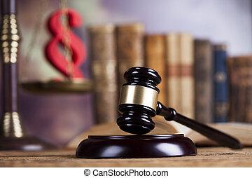 concept, avocat, bois, système, légal, concept, justice,...
