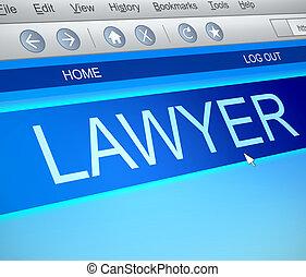 concept., avocat, ligne
