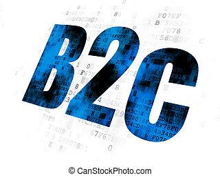 concept:, b2c, finance, fond, numérique