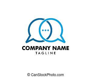 concept, bavarder, conception, gabarit, logo, bulle