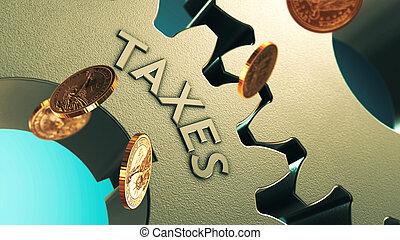concept, belasting, achtergrond
