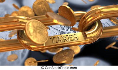 concept, belasting, betaling