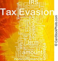 concept, belastingontduiking, achtergrond
