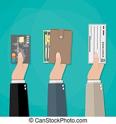 concept, betaling, opties