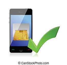 concept, betalingen, online