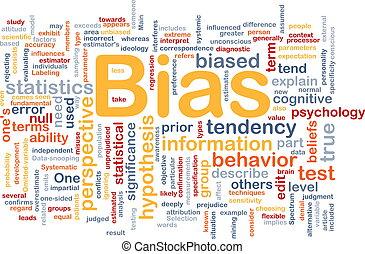 concept, bias, been, achtergrond
