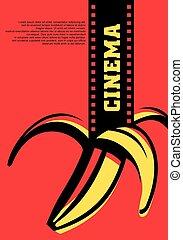 concept, bioscoop, straatfeest, film, lucht, artistiek,...