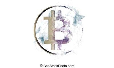 concept., bitcoin, virtuel, élevé, monnaie, technologie, ...