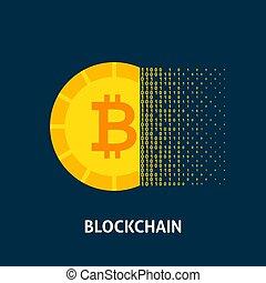 concept, blockchain, bitcoin