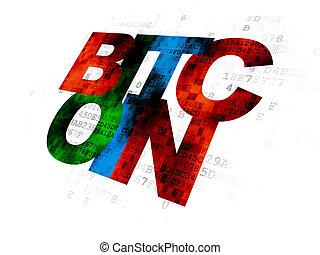 concept:, blockchain, bitcoin, fond, numérique