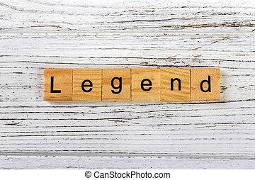 concept, blocs, bois, fait, mot, légende