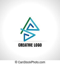 concept blue green logo