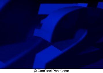 concept, blue, number