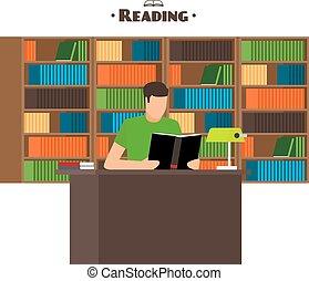 concept, boekjes , lezende