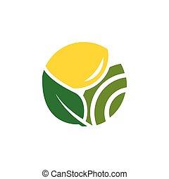 concept, boerderij, ontwerp, schoonmaken, logo, landbouw