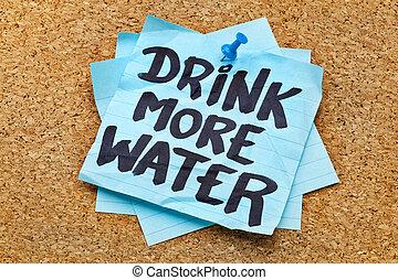 concept, boisson, -, eau, hydration, plus