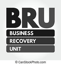 concept, bru, business, acronyme, récupération, -, unité