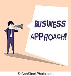 concept, bubble., texte, forme, vide, inégal, but, long, cris, parole, blanc, approach., réaliser, business, signification, plan, terme, porte voix, cible, action, homme affaires, écriture, conçu