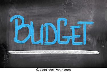 concept, budget