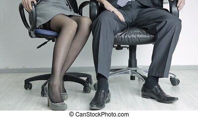 concept, bureau, elle, boss., jeune, abus, sexuellement,...