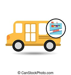 concept bus school color box desing
