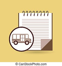concept bus school notebook desing