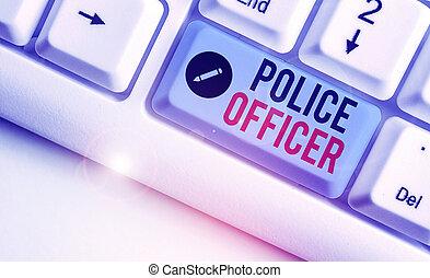 concept, business, application, officier, texte, mot, team., écriture, droit & loi, police, démontrer, officer.