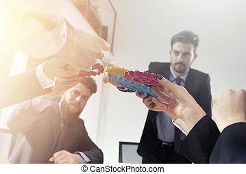 concept, business, association, intégration, morceaux, collaboration, relier, équipe, gears.