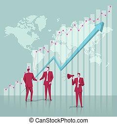 concept, business, blue., team., fond, homme affaires, conception
