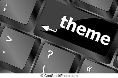 concept, business, bouton, clés, thème, clavier ordinateur