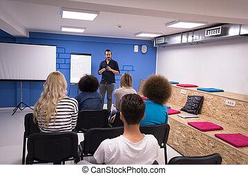 concept, business, constitué, orateur, réunion, séminaire