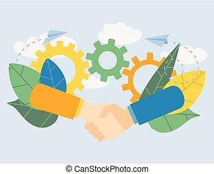 concept, business, fond