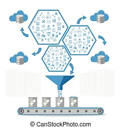 concept., business, gestion, base données, intelligence, ...