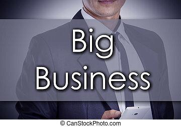 concept, business, grand, -, jeune, texte, homme affaires