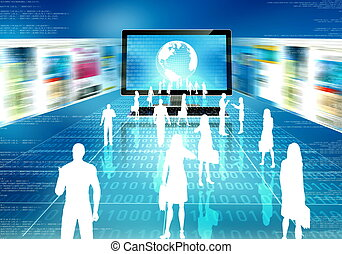 concept, business, internet