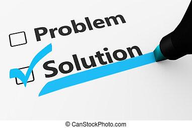 concept, business, problème, solution