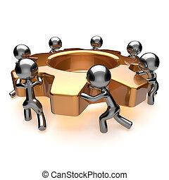 concept, business, processus, travail, efficacité, collaboration, coopération, équipe