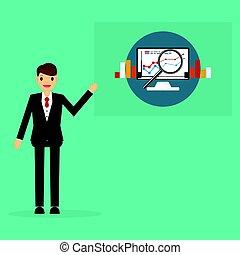 concept, business, recherche